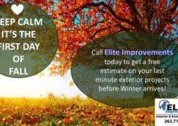 Fall Home Improvement Estimate Burlington Wi